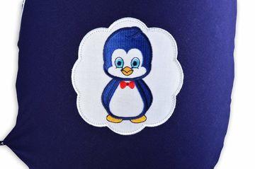 Stillkissen 190x30 Sei Design Jeansblau-Pinguin Pünktchen  EPS Perlen