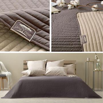 Details Zu Sei Design Luxus Tagesdecke Living Trend Wendedecke Gesteppt Schokobraun