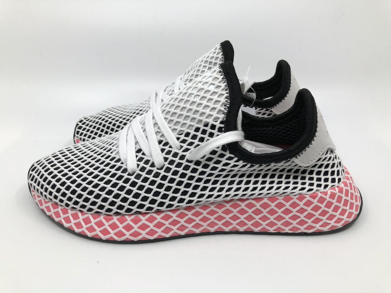 best sneakers 6400c 8484e Adidas Deerupt Runner W CQ2909 Damen Sneaker Gr. 38 23 schwarz rosa weiß