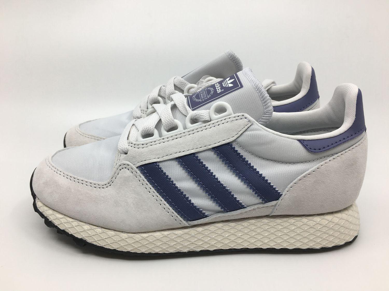 Details zu Adidas Forest Grove W AQ1220 Damen Sneaker weiß blau