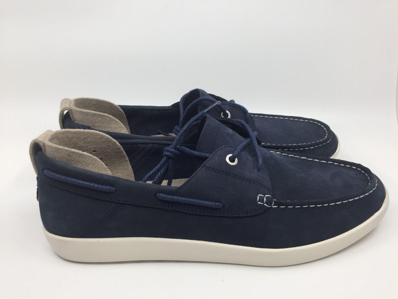 Details zu Timberland Project Better Boat Shoe A27FD Gr. 46 navy Herren Bootsschuh blau