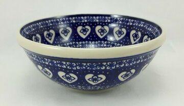 ø24cm, M092-P364 blau//weiß Schüssel Bunzlauer Keramik Schale MISKA Salat