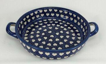 Bunzlauer Keramik Schale Z140-MAGM Pfanne zum Schmoren,Auflaufform mit Griffen