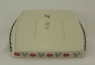 Bunzlauer Keramik Grillteller P191-70A Grillplatte für Bacon und Gemüse
