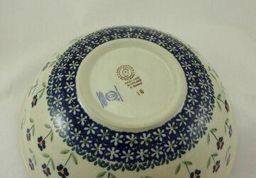 Salat M092-ASS Blumen Bunzlauer Keramik Schale MISKA ø24cm, Schüssel