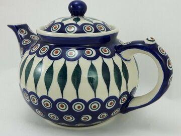 Kanne für 1,3Liter Tee, Bunzlauer Keramik Teekanne C017-U22