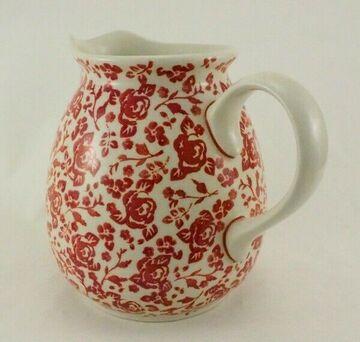 D040-EO36 UNIKAT Bunzlauer Keramik Krug; Blumenvase; Milchkrug; 1,4Liter