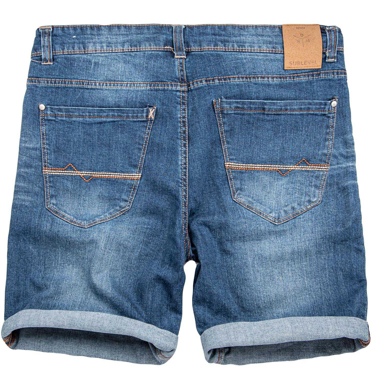 Sublevel-Herren-Sweat-Jeans-Shorts-kurze-Hose-Bermuda-Sommer-Sweathose-Slim-NEU Indexbild 29