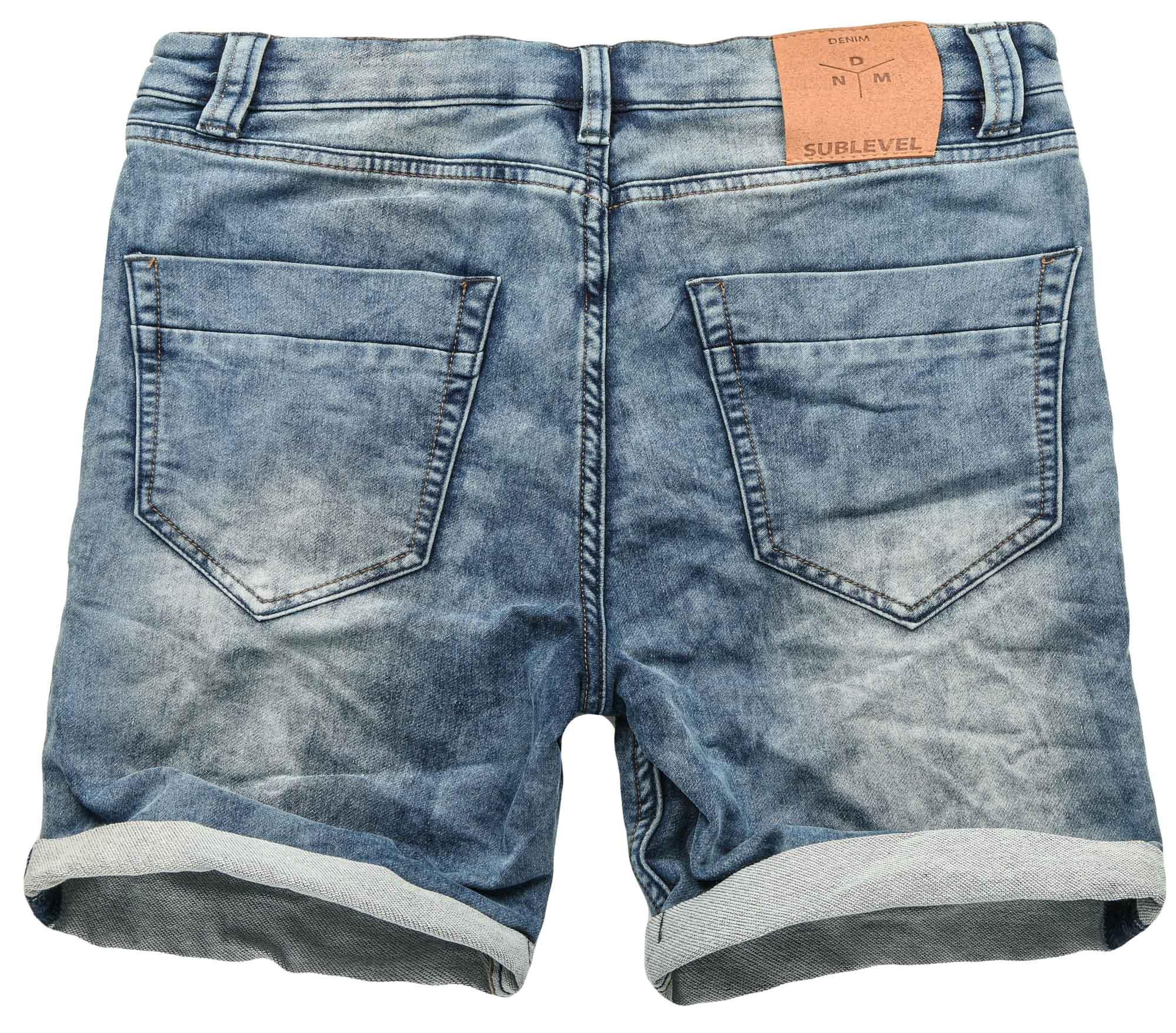 Sublevel-Herren-Sweat-Jeans-Shorts-kurze-Hose-Bermuda-Sommer-Sweathose-Slim-NEU Indexbild 15