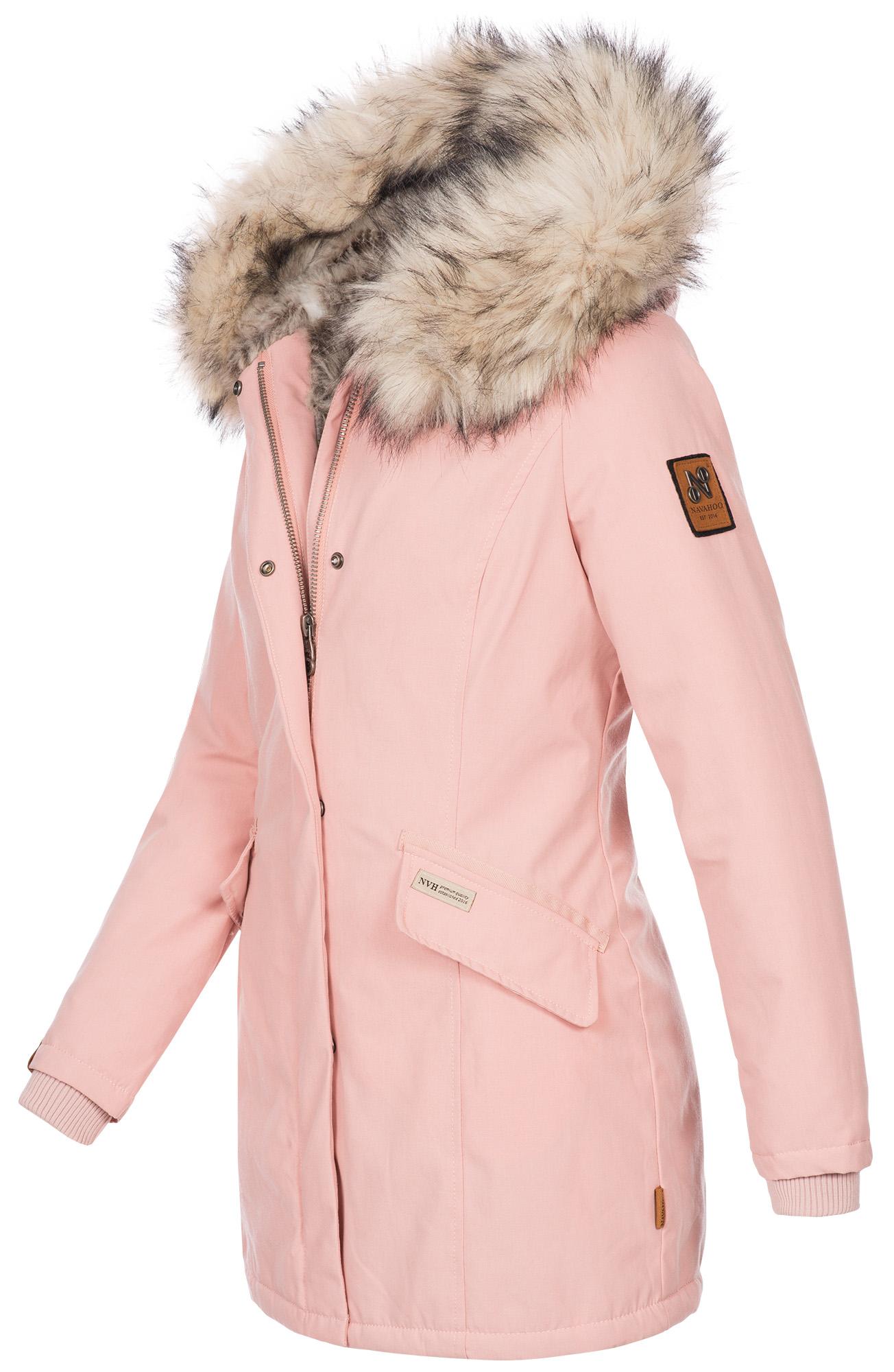 Navahoo-Premium-Damen-Winter-Jacke-Parka-Mantel-Winterjacke-warm-Kunstfell-B669 Indexbild 17