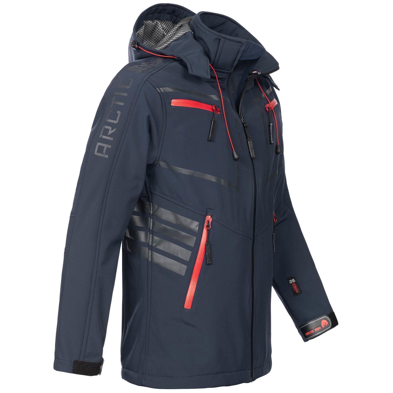 Arctic-Seven-Herren-Designer-Softshell-Funktions-Outdoor-Regen-Jacke-Sport-AS088 Indexbild 10
