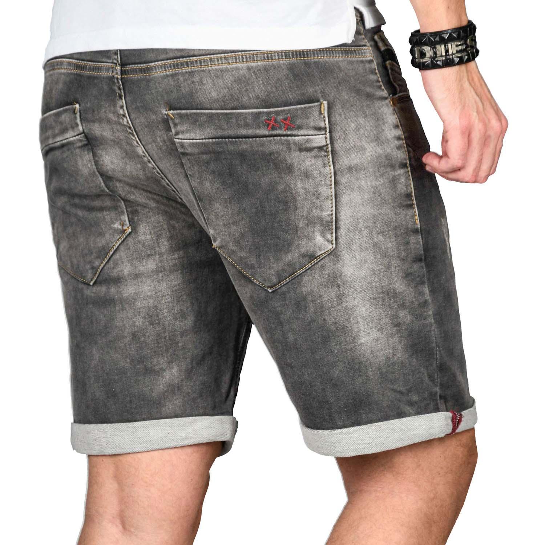 A-Salvarini-Herren-Jeans-Short-kurze-Hose-Sommer-Shorts-Bermuda-Comfort-fit-NEU Indexbild 39