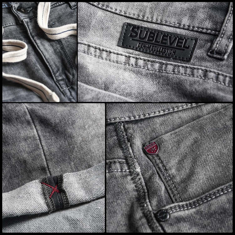Sublevel-Herren-Shorts-Sweat-Jeans-kurze-Hose-Bermuda-Sommer-Short-Sweathose Indexbild 26