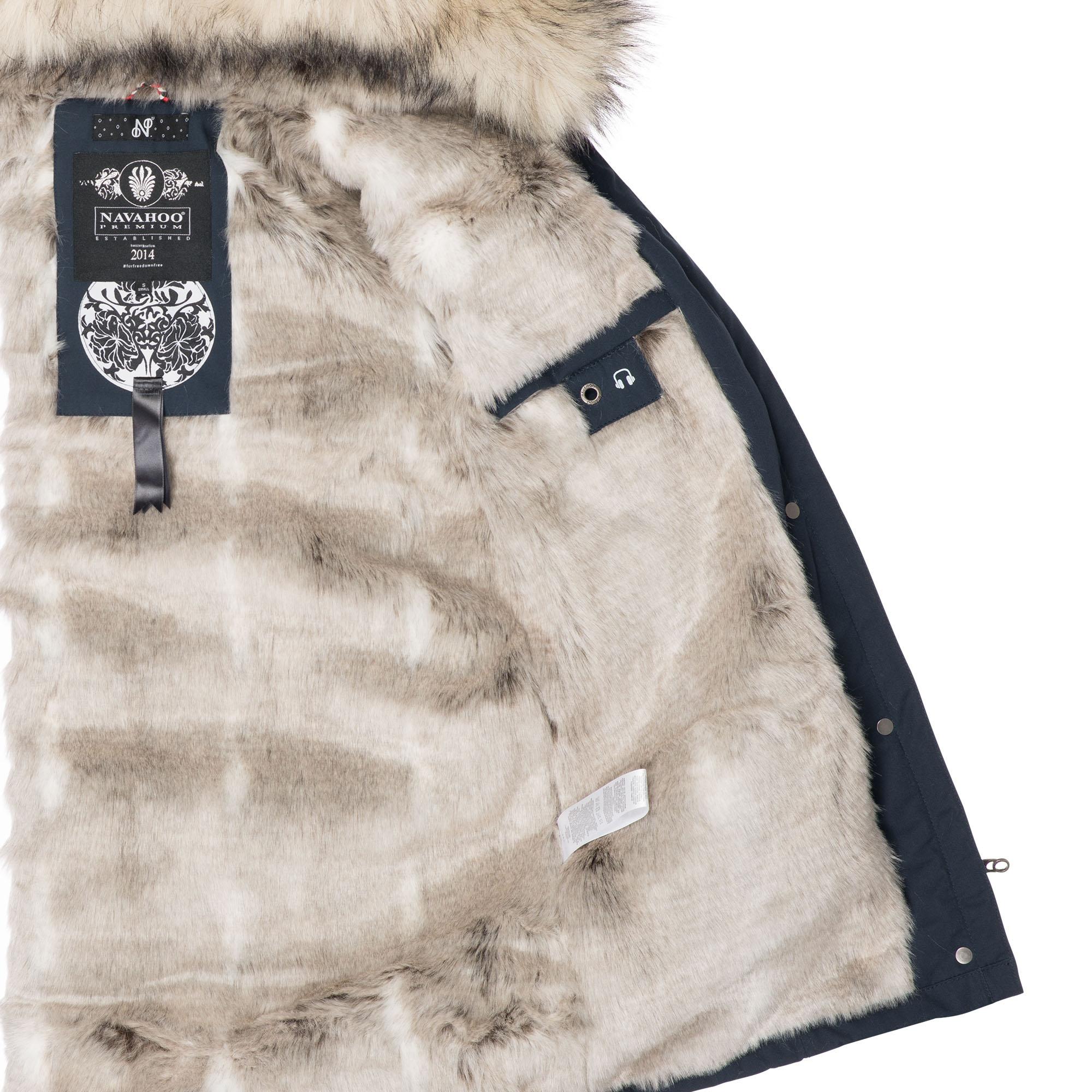 Navahoo-Premium-Damen-Winter-Jacke-Parka-Mantel-Winterjacke-warm-Kunstfell-B669 Indexbild 11
