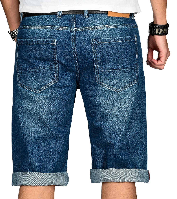 A-Salvarini-Designer-Herren-Jeans-Short-kurze-Sommer-Hose-Jeansshorts-Bermuda Indexbild 12