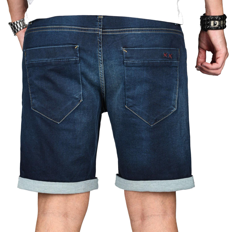 A-Salvarini-Herren-Jeans-Short-kurze-Hose-Sommer-Shorts-Bermuda-Comfort-fit-NEU Indexbild 19