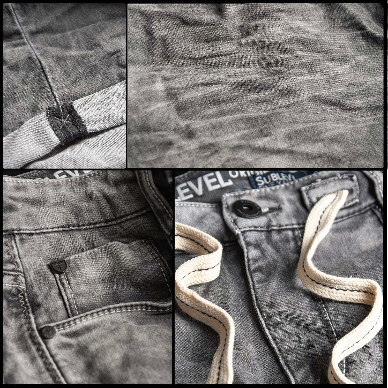 Sublevel-Herren-Sweat-Jeans-Shorts-kurze-Hose-Bermuda-Sommer-Sweathose-Slim-NEU Indexbild 35