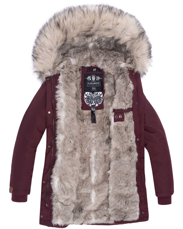 Navahoo-Premium-Damen-Winter-Jacke-Parka-Mantel-Winterjacke-warm-Kunstfell-B669 Indexbild 33