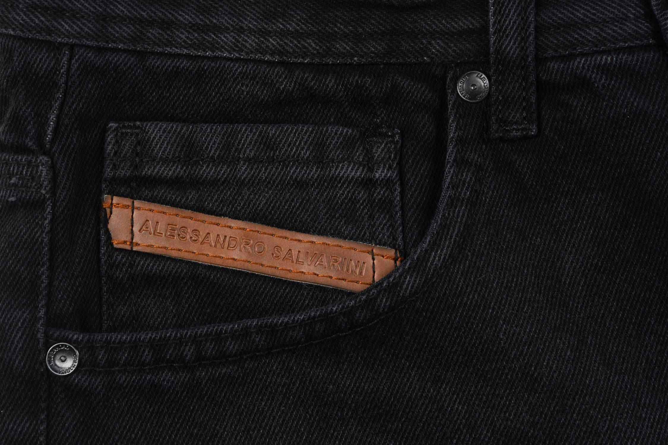 A-Salvarini-Designer-Herren-Jeans-Short-kurze-Sommer-Hose-Jeansshorts-Bermuda Indexbild 30