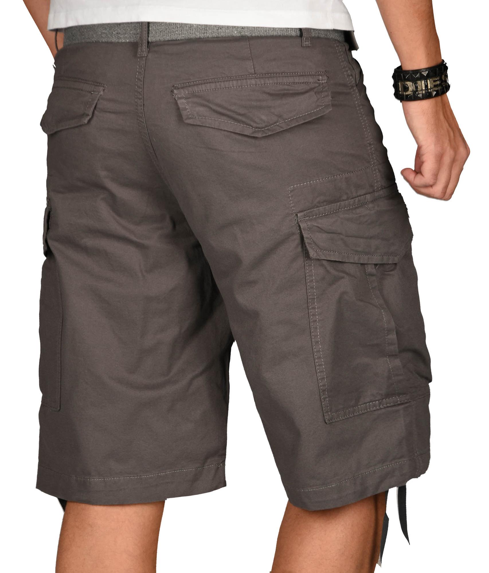 A-Salvarini-Herren-Comfort-Cargo-Shorts-Cargoshorts-kurze-Hose-Guertel-AS133-NEU Indexbild 12
