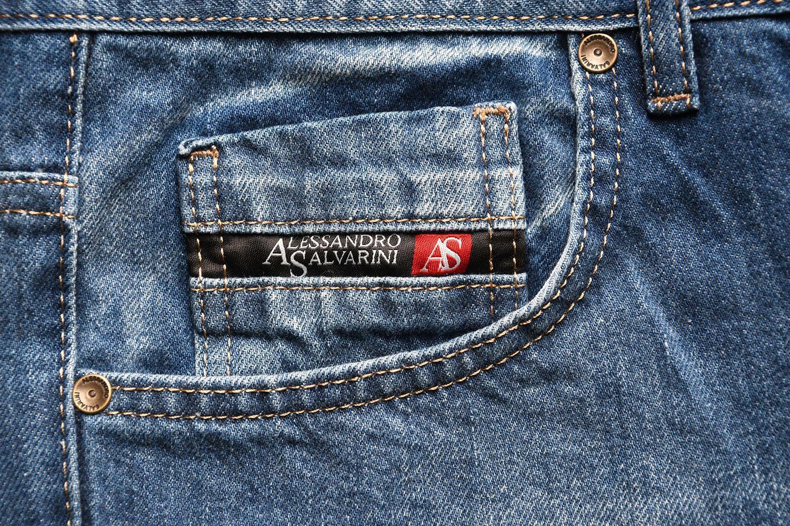 A-Salvarini-Beppo-Designer-Herren-Jeans-Hose-Basic-Jeanshose-Comfort-Fit Indexbild 7