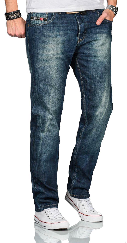 A-Salvarini-Beppo-Designer-Herren-Jeans-Hose-Basic-Jeanshose-Comfort-Fit Indexbild 12