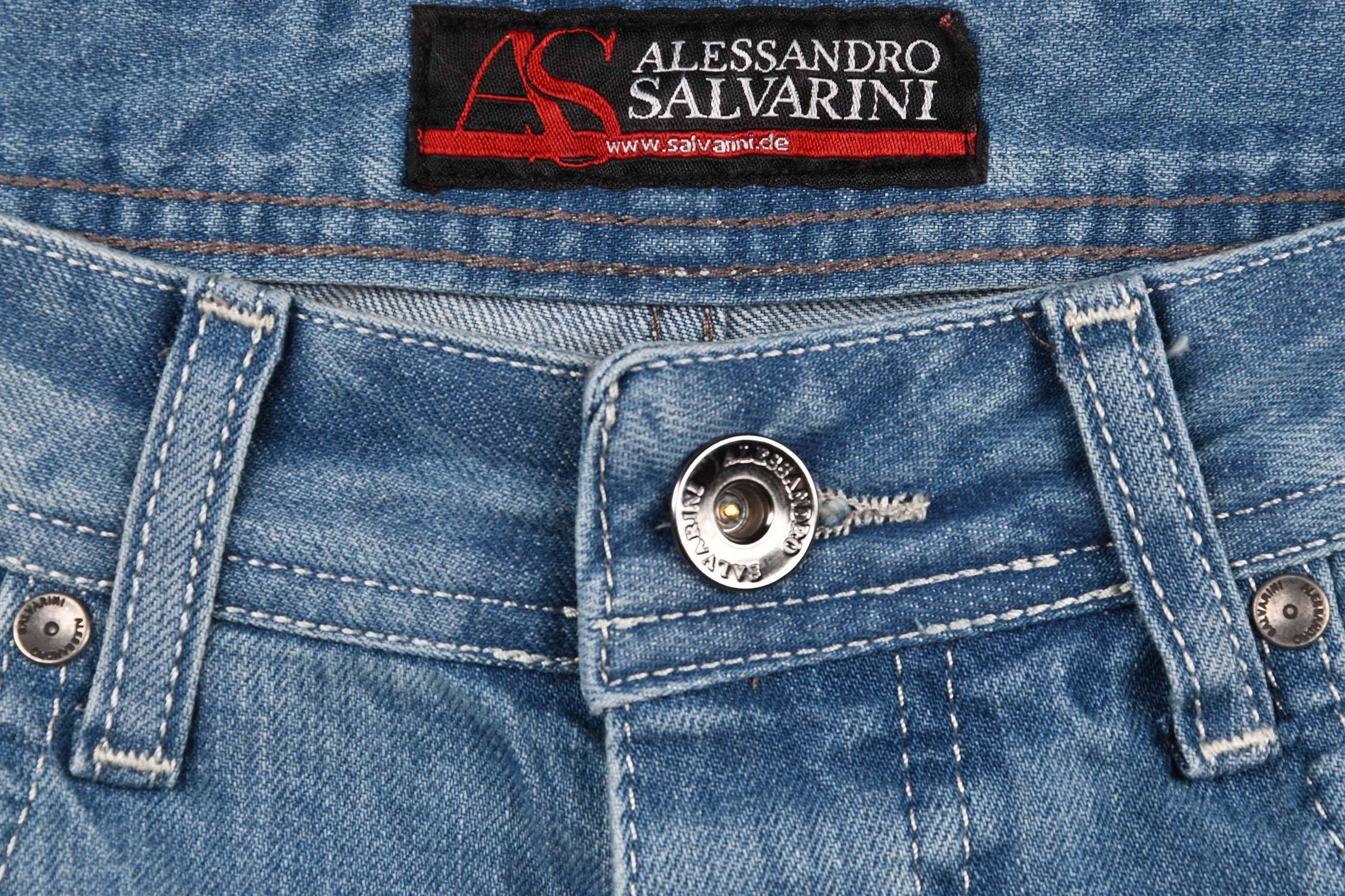 A-Salvarini-Designer-Herren-Jeans-Short-kurze-Sommer-Hose-Jeansshorts-Bermuda Indexbild 6
