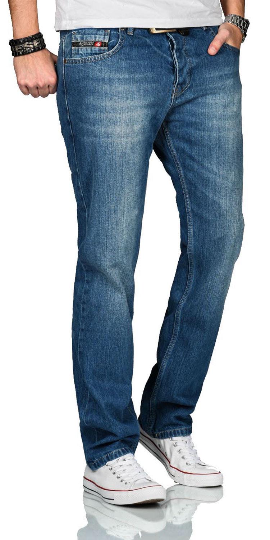 A-Salvarini-Beppo-Designer-Herren-Jeans-Hose-Basic-Jeanshose-Comfort-Fit Indexbild 4