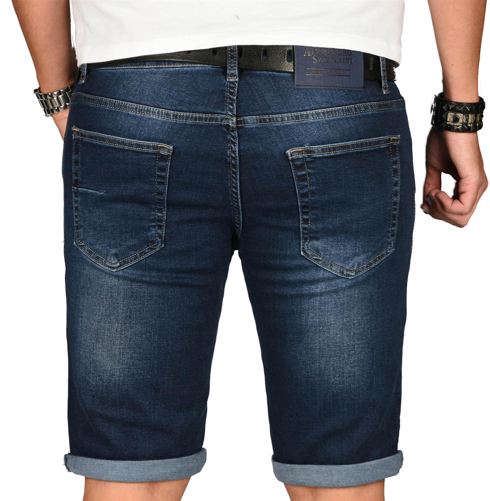 A-Salvarini-Herren-Designer-Jeans-Short-kurze-Hose-Slim-Sommer-Shorts-Washed Indexbild 37