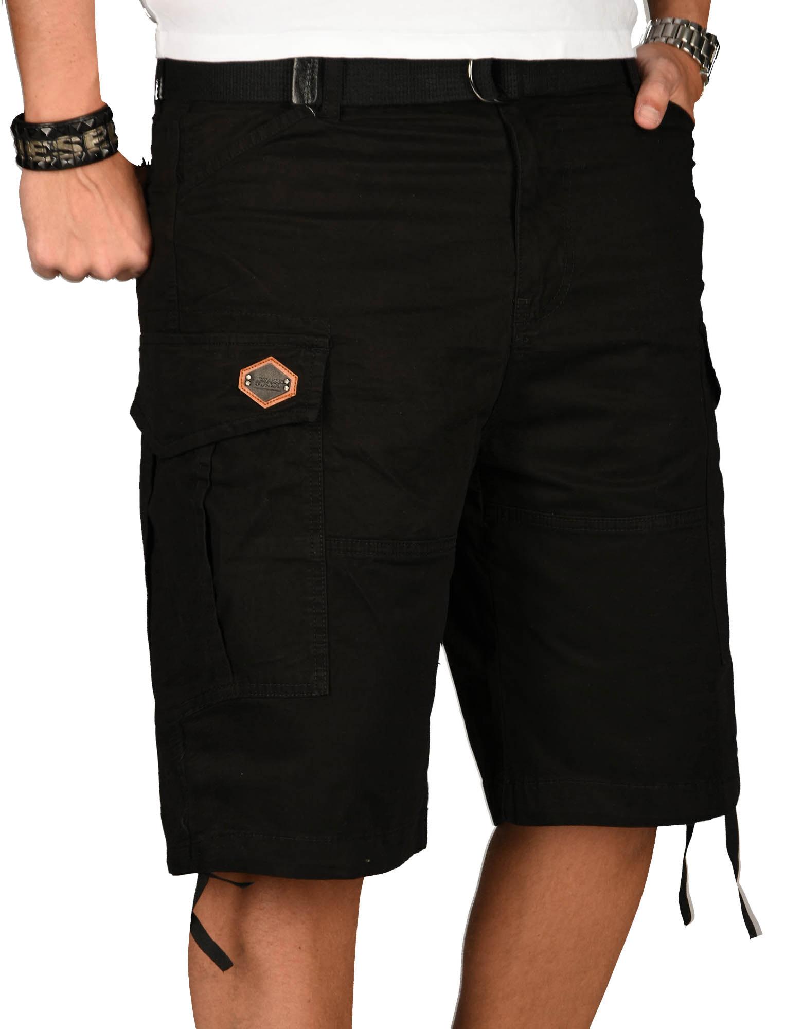 A-Salvarini-Herren-Comfort-Cargo-Shorts-Cargoshorts-kurze-Hose-Guertel-AS133-NEU Indexbild 3