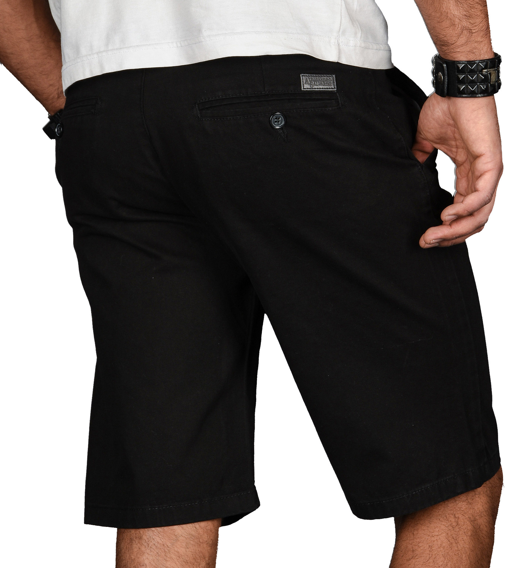 A-Salvarini-Herren-Shorts-kurze-Sommer-Hose-mit-Guertel-Short-Bermuda-NEU-AS096 Indexbild 4