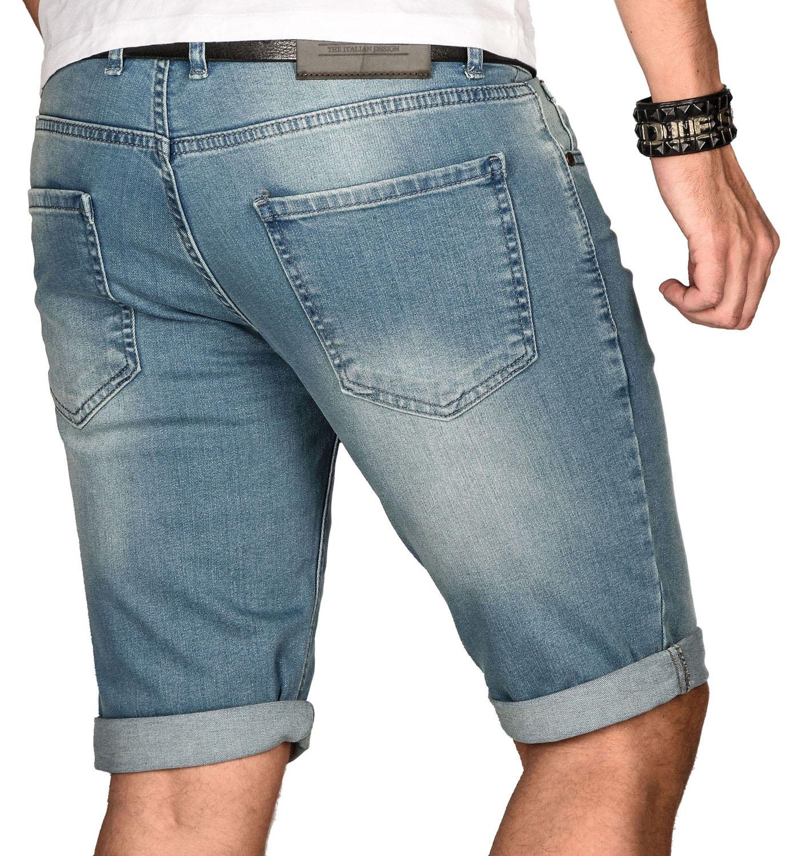 A-Salvarini-Herren-Designer-Jeans-Short-kurze-Hose-Slim-Sommer-Shorts-Bermuda Indexbild 26