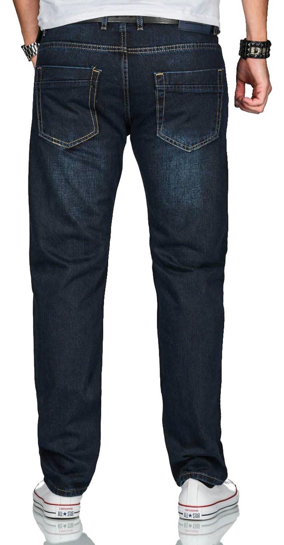 A-Salvarini-Beppo-Designer-Herren-Jeans-Hose-Basic-Jeanshose-Comfort-Fit Indexbild 22