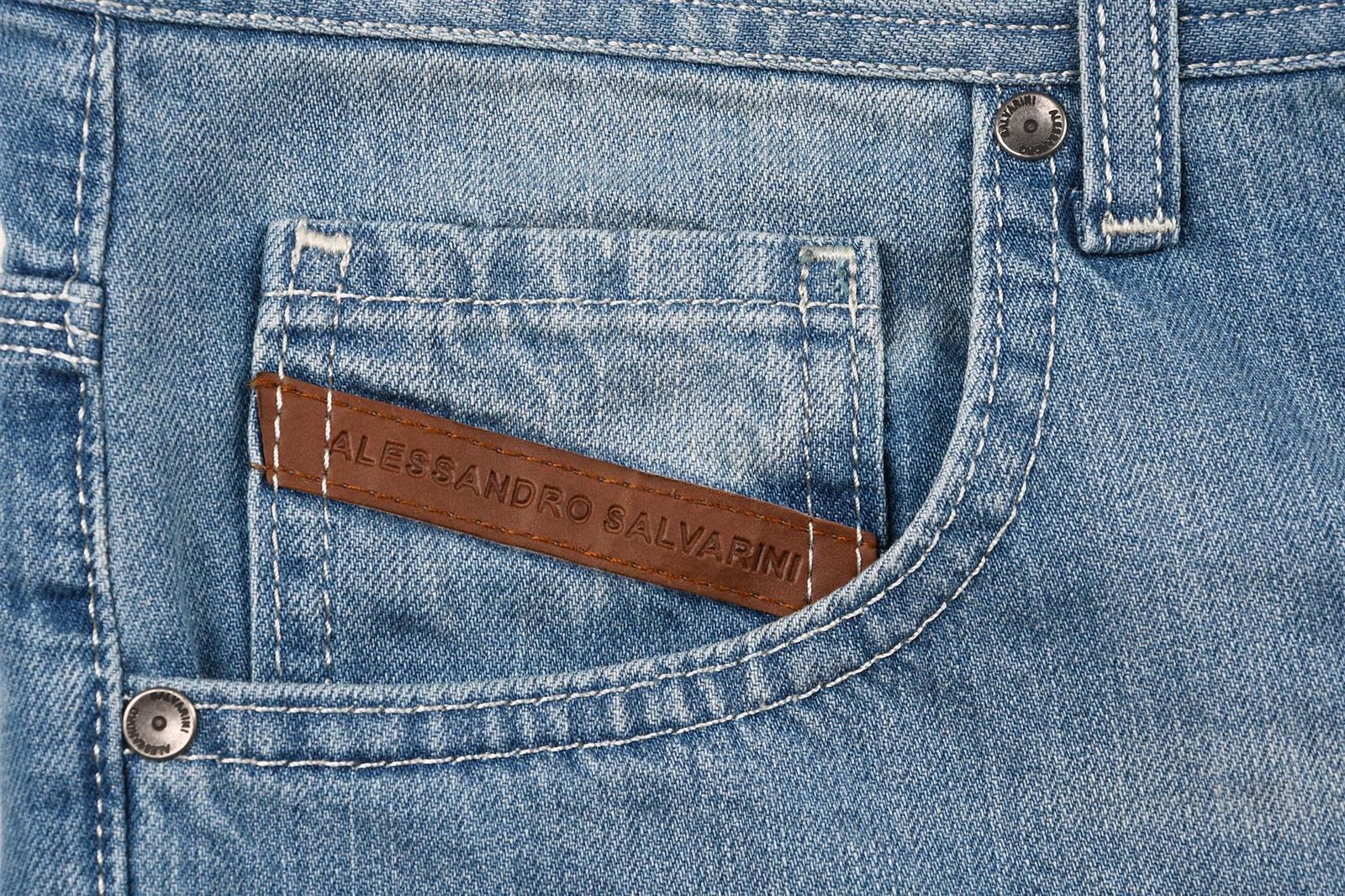 A-Salvarini-Designer-Herren-Jeans-Short-kurze-Sommer-Hose-Jeansshorts-Bermuda Indexbild 7