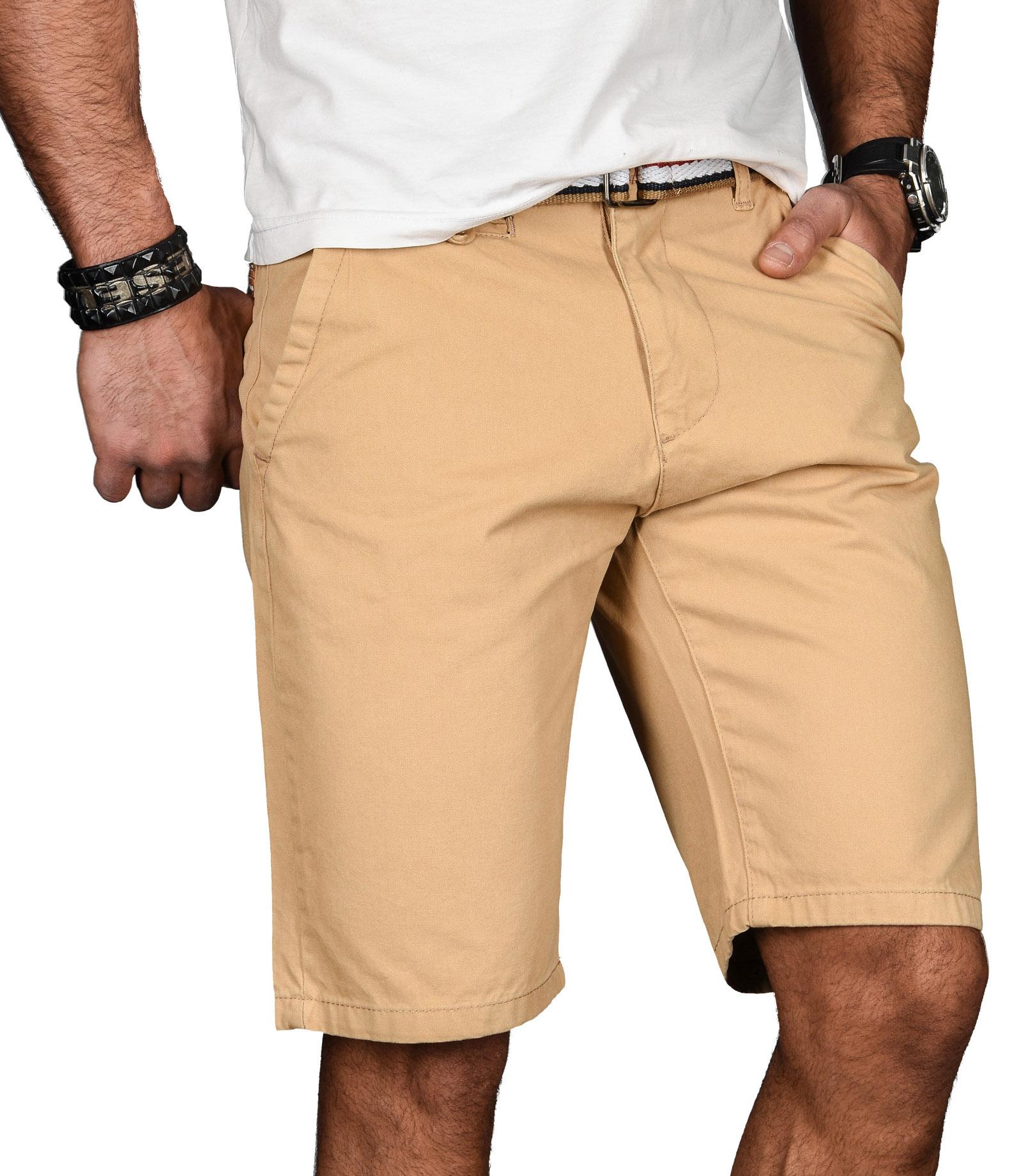 A-Salvarini-Herren-Shorts-kurze-Sommer-Hose-mit-Guertel-Short-Bermuda-NEU-AS096 Indexbild 26