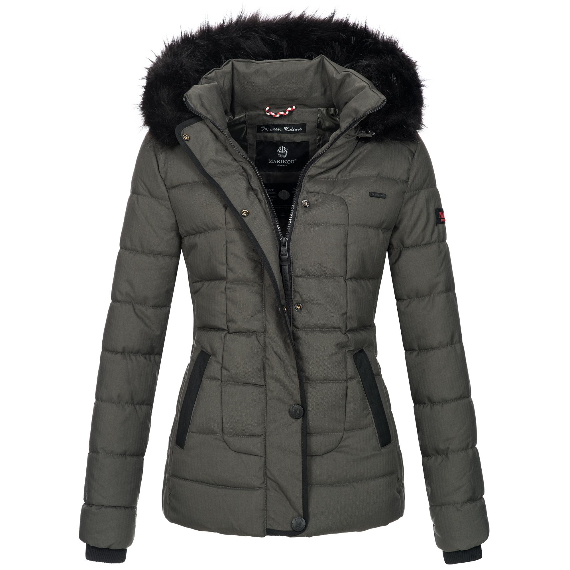 Marikoo warme Damen Winter Jacke Steppjacke Winterjacke ...