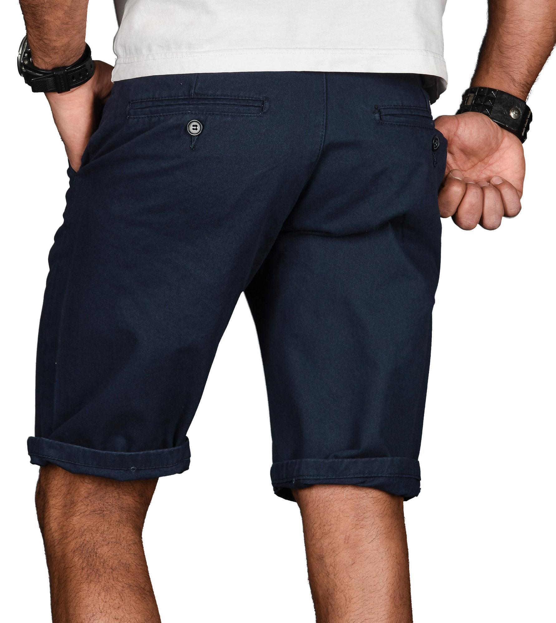 A-Salvarini-Herren-Shorts-kurze-Sommer-Hose-mit-Guertel-Short-Bermuda-NEU-AS096 Indexbild 12