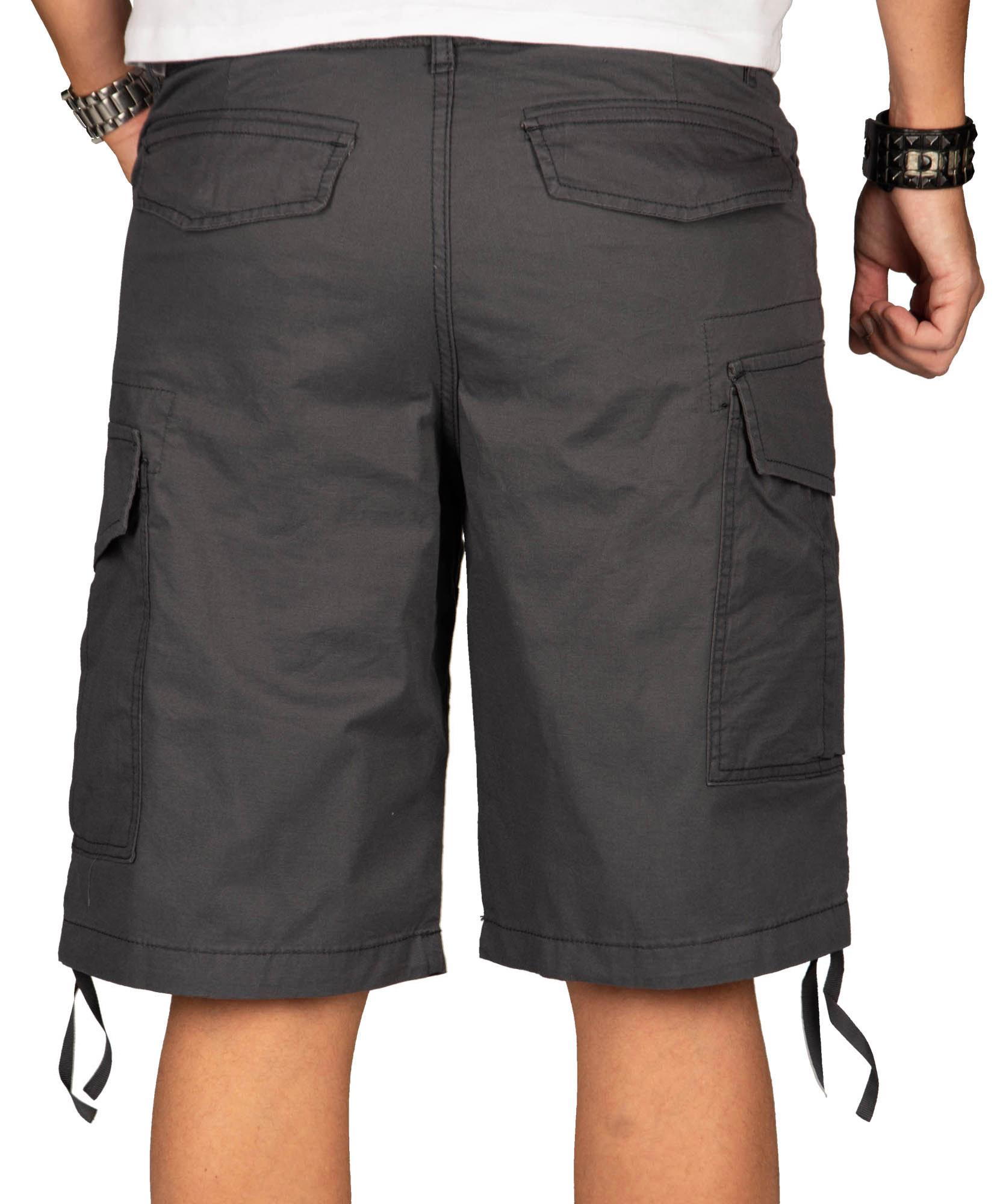 A-Salvarini-Herren-Comfort-Cargo-Shorts-Cargoshorts-kurze-Hose-Guertel-AS133-NEU Indexbild 9