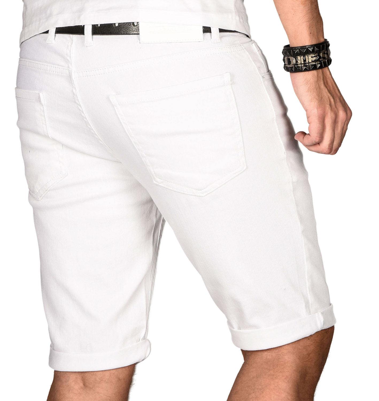 A-Salvarini-Herren-Designer-Jeans-Short-kurze-Hose-Slim-Sommer-Shorts-Bermuda Indexbild 34
