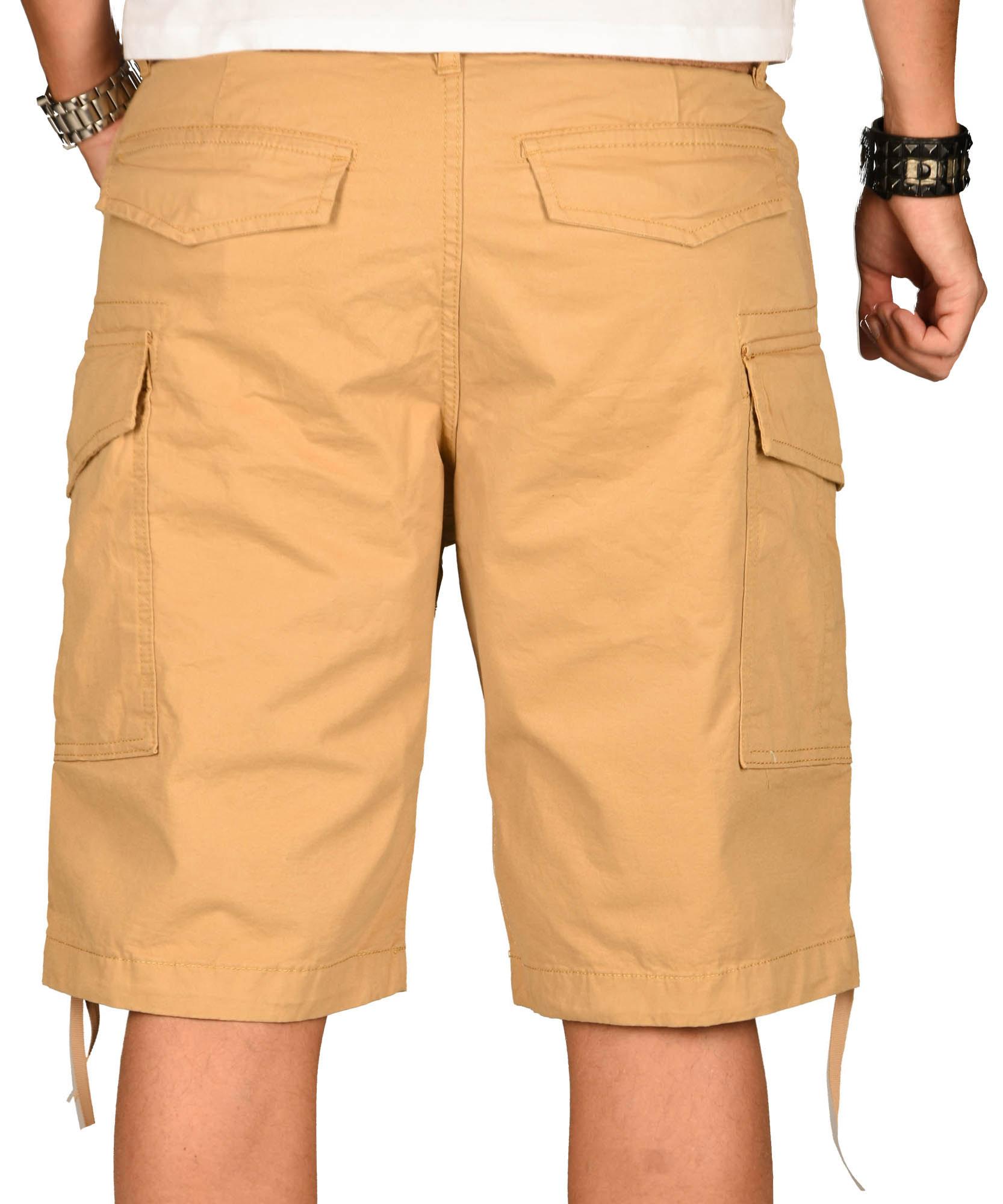 A-Salvarini-Herren-Comfort-Cargo-Shorts-Cargoshorts-kurze-Hose-Guertel-AS133-NEU Indexbild 29
