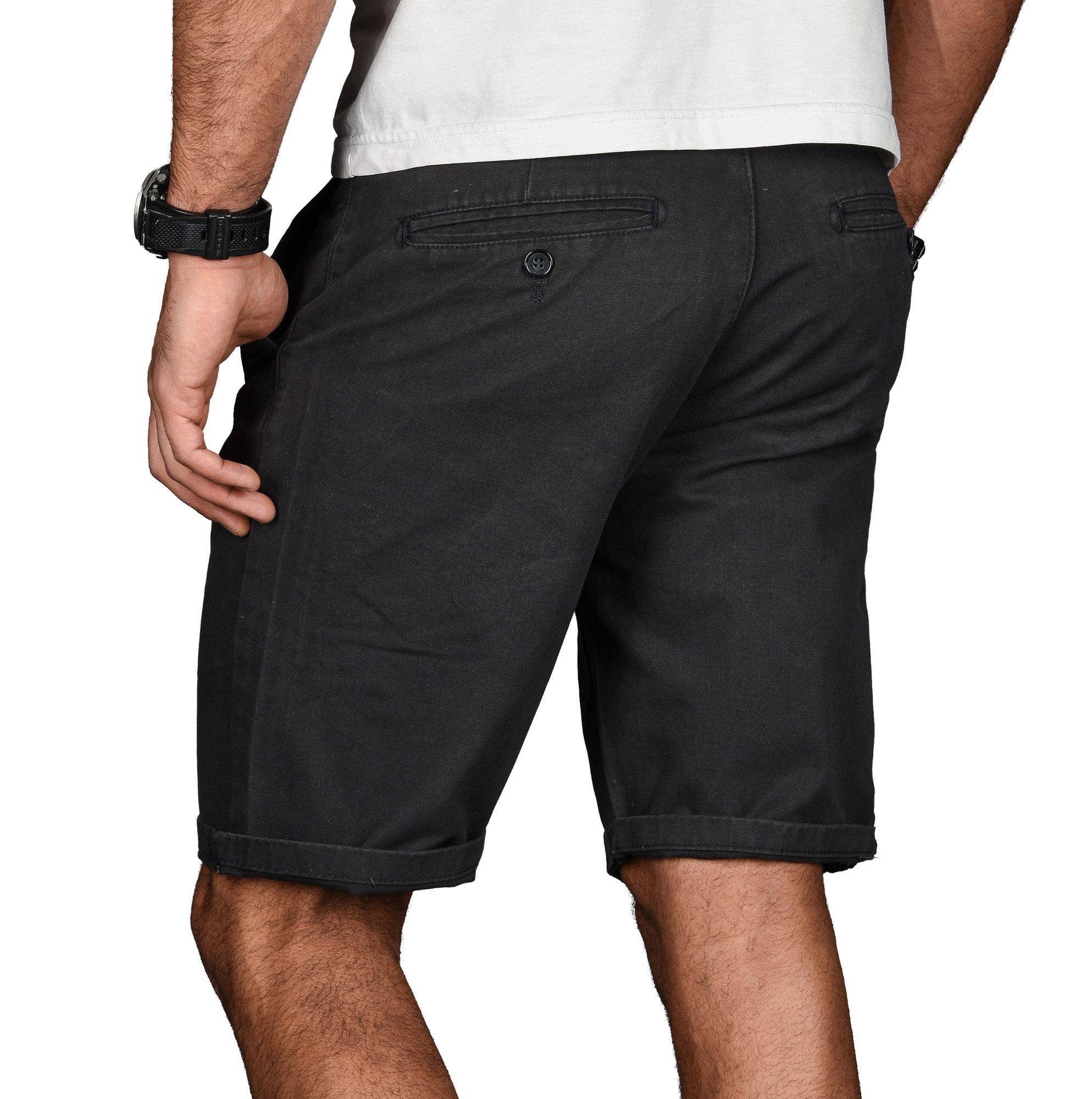 A-Salvarini-Herren-Shorts-kurze-Sommer-Hose-mit-Guertel-Short-Bermuda-NEU-AS096 Indexbild 15