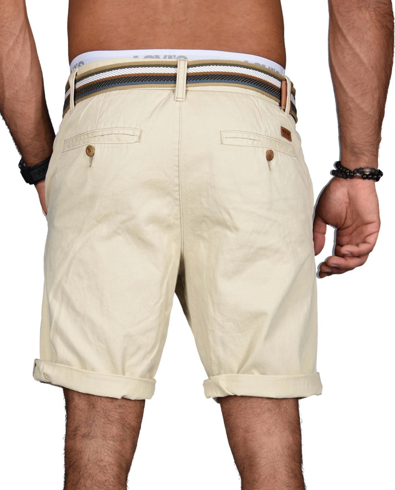 Indicode-Herren-Sommer-Bermuda-Chino-Shorts-kurze-Hose-Sommerhose-Short-NEU-B499 Indexbild 5