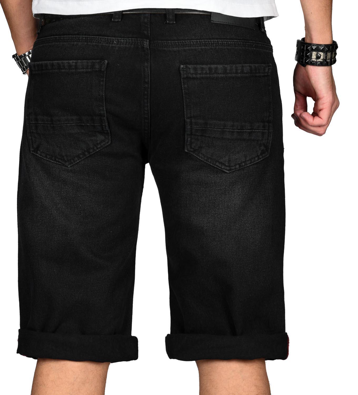 A-Salvarini-Designer-Herren-Jeans-Short-kurze-Sommer-Hose-Jeansshorts-Bermuda Indexbild 28