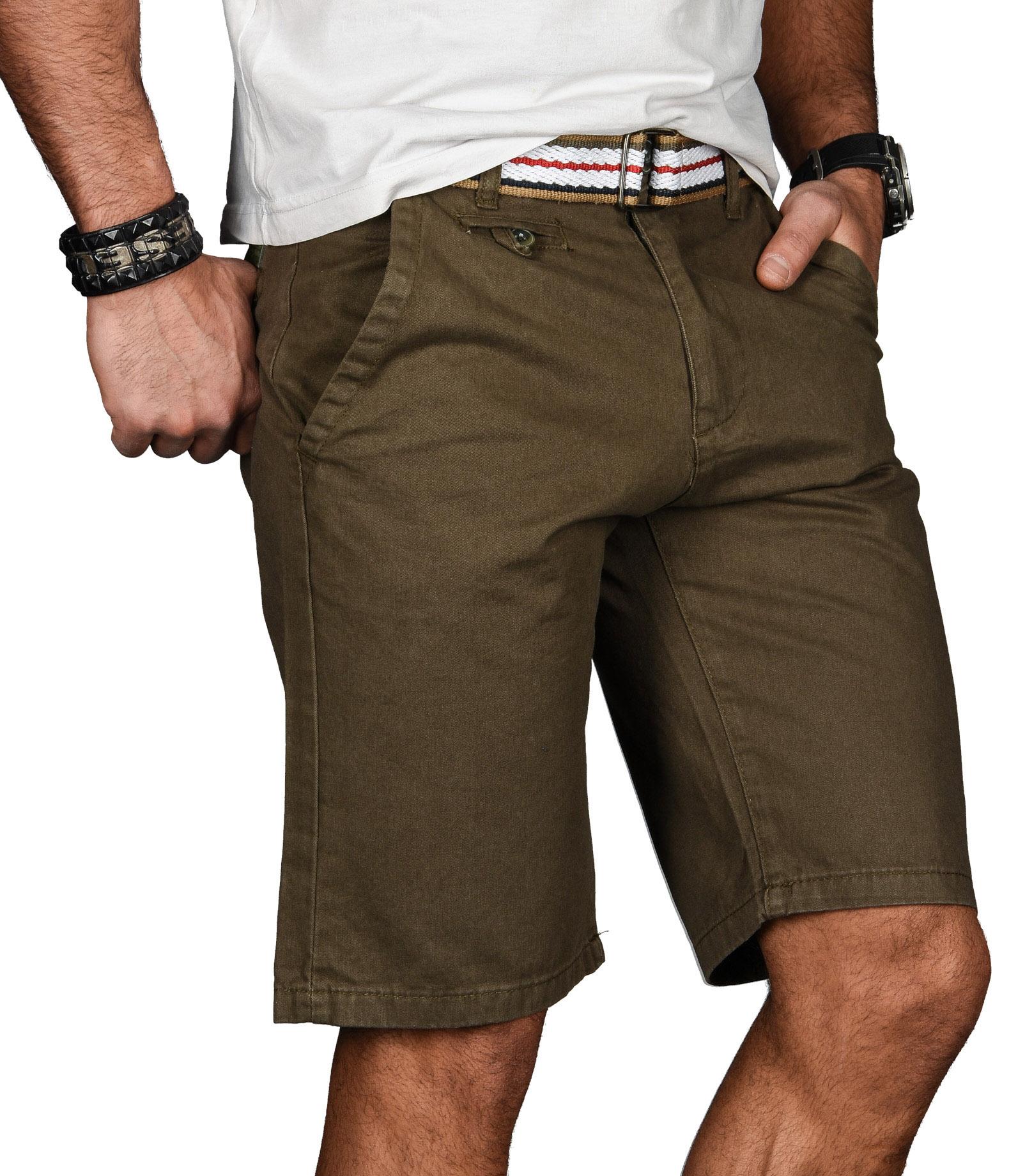 A-Salvarini-Herren-Shorts-kurze-Sommer-Hose-mit-Guertel-Short-Bermuda-NEU-AS096 Indexbild 37