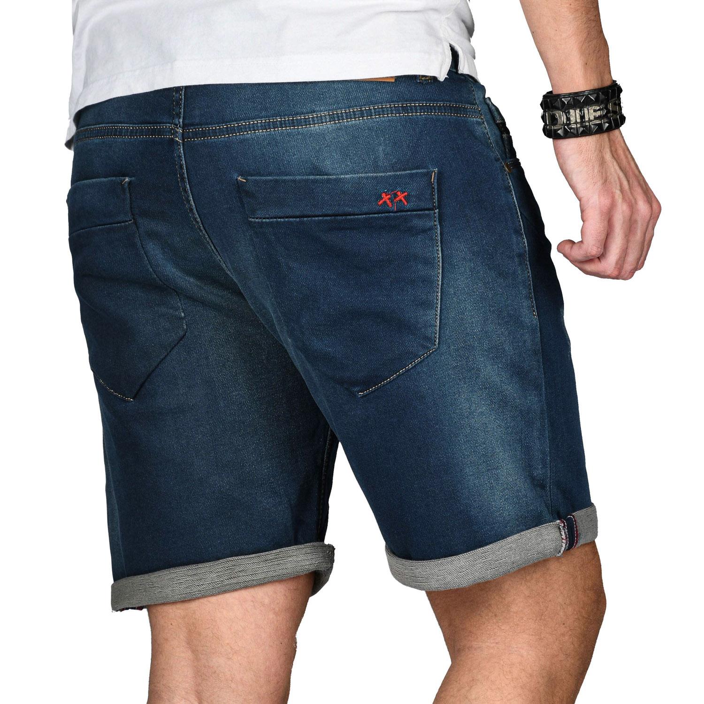 A-Salvarini-Herren-Jeans-Short-kurze-Hose-Sommer-Shorts-Bermuda-Comfort-fit-NEU Indexbild 25