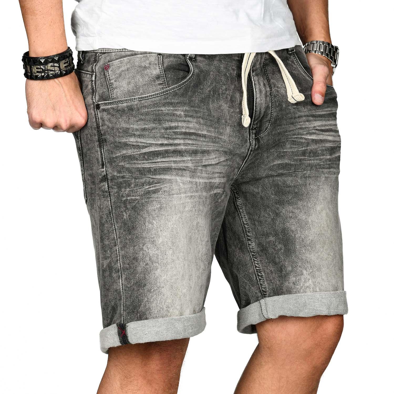 Sublevel-Herren-Shorts-Sweat-Jeans-kurze-Hose-Bermuda-Sommer-Short-Sweathose Indexbild 23