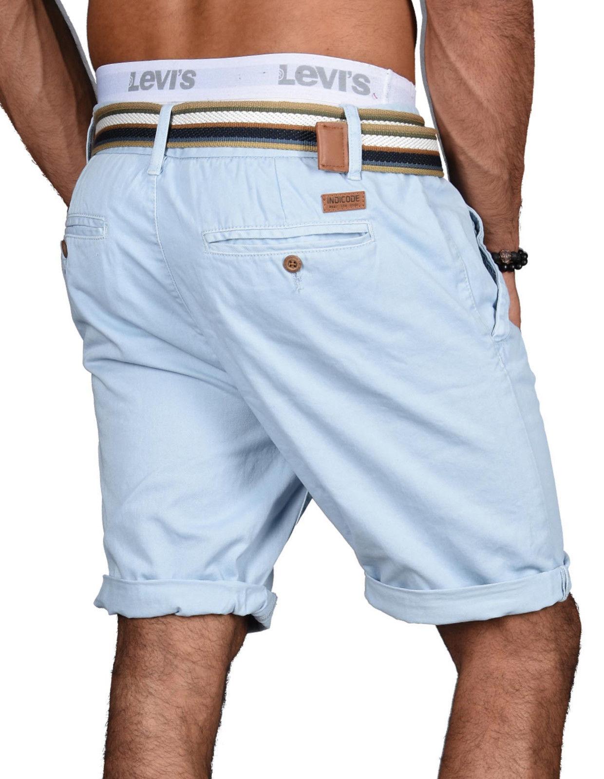 Indicode-Herren-Sommer-Bermuda-Chino-Shorts-kurze-Hose-Sommerhose-Short-NEU-B499 Indexbild 12