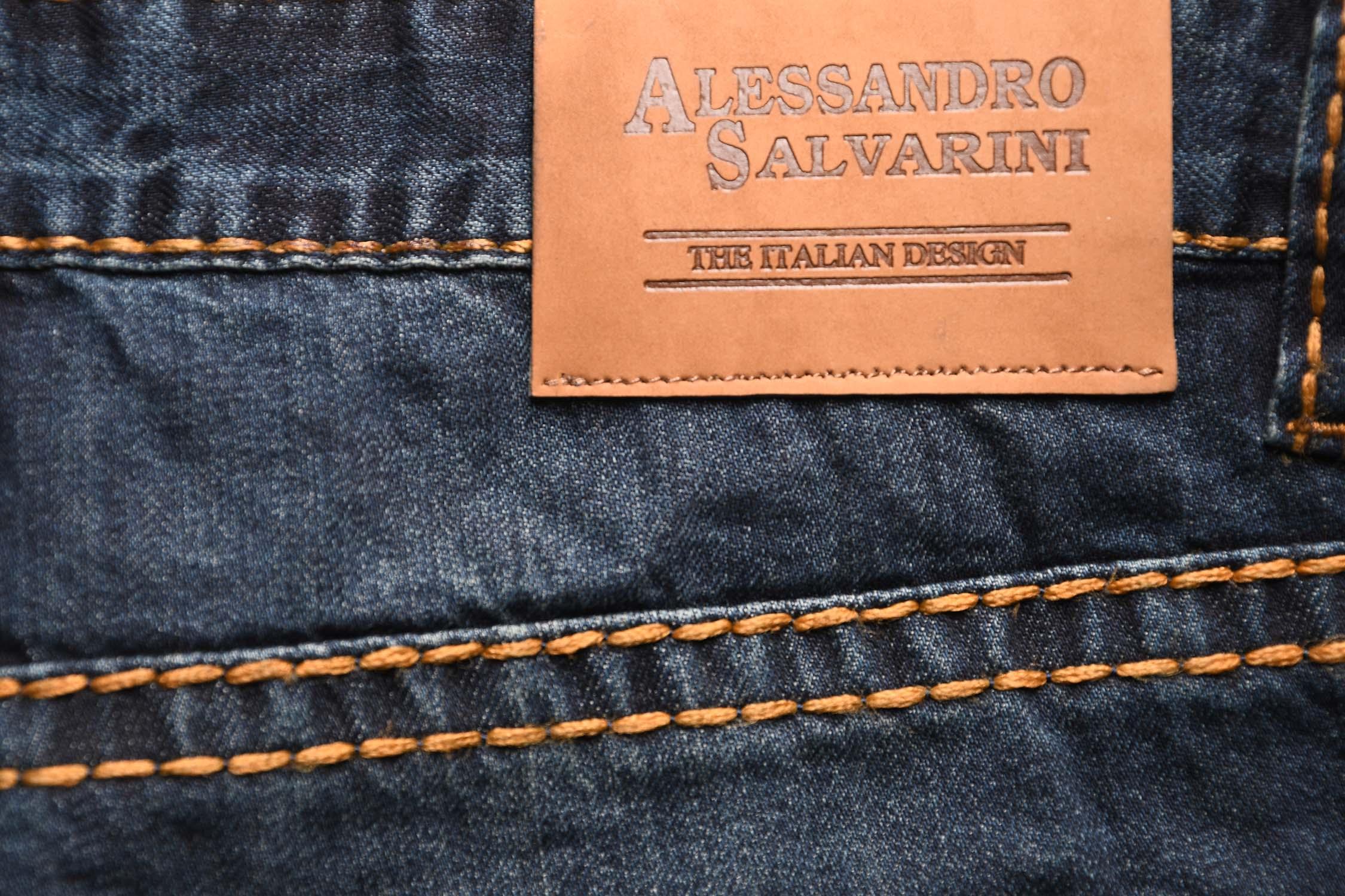 A-Salvarini-Herren-Jeans-Hose-dicke-Naehte-Jeanshose-Comfort-Fit-gerades-Bein Indexbild 9