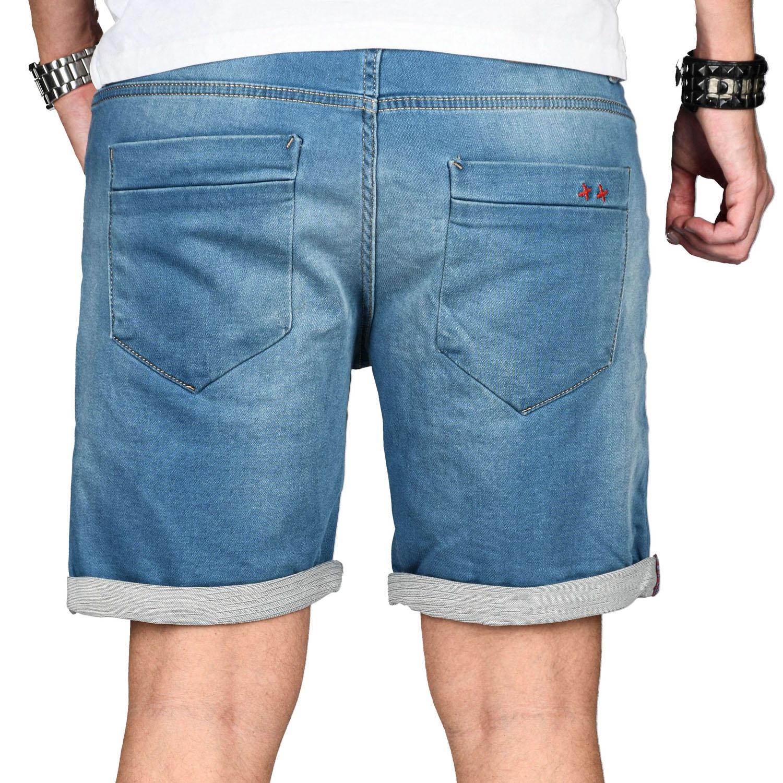 A-Salvarini-Herren-Jeans-Short-kurze-Hose-Sommer-Shorts-Bermuda-Comfort-fit-NEU Indexbild 12