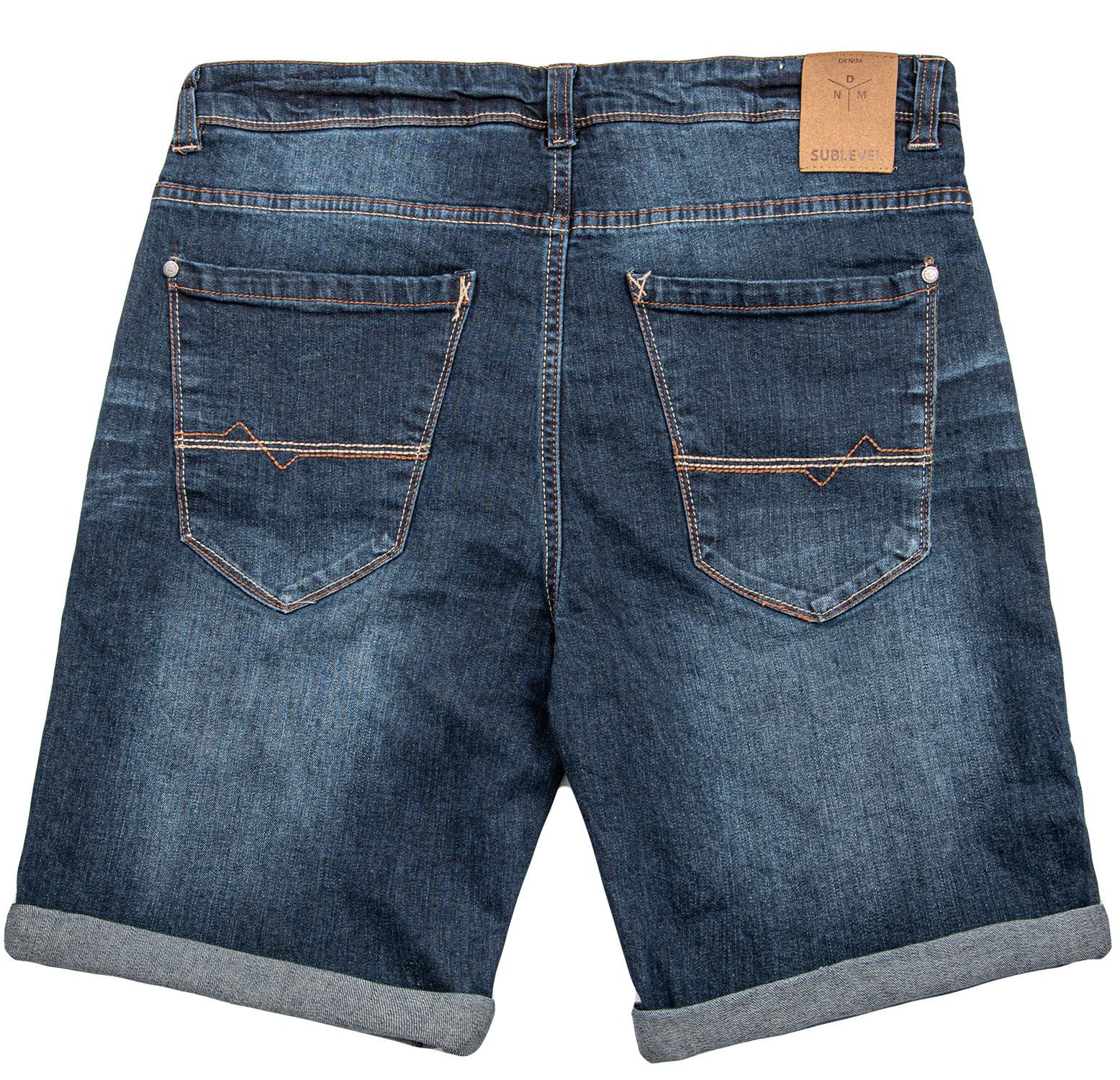 Sublevel-Herren-Sweat-Jeans-Shorts-kurze-Hose-Bermuda-Sommer-Sweathose-Slim-NEU Indexbild 56